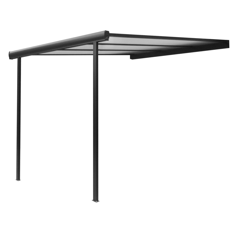 pergola adoss e braga aluminium gris anthracite 12 m. Black Bedroom Furniture Sets. Home Design Ideas
