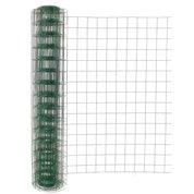 Grillage soudé vert H.1.5 x L.20 m, maille de H.100 x l.100 mm