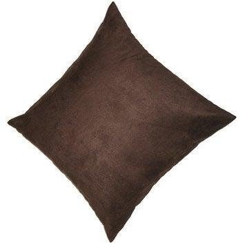 Coussin Manchester, brun chocolat n°1, 45 x 45 cm