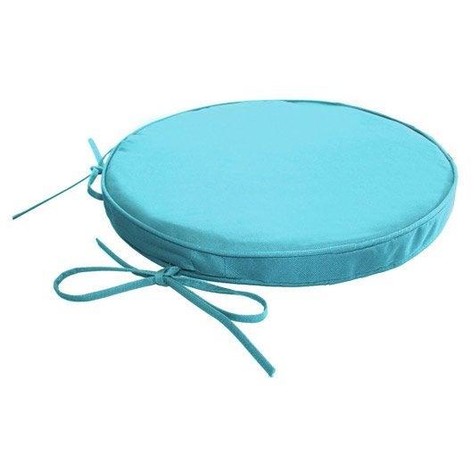 galette de chaise imperm able ronde bleu atoll n 5 x h 4 cm leroy merlin. Black Bedroom Furniture Sets. Home Design Ideas