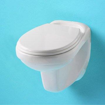 Wc suspendu wc abattant et lave mains toilette au for Prix cuvette wc suspendu