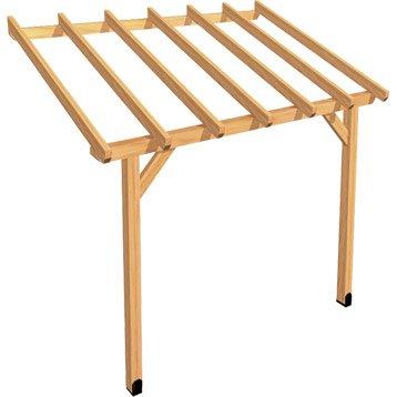 Appenti bois Auvent 1 pan, 6 m²