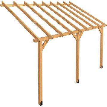 Appenti en bois AUVENT 1 PAN, 12 m²
