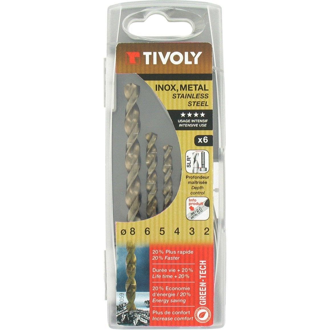 Coffret De 6 Forets Technic Metal Diam 2 A 8 Mm Tivoly Leroy Merlin