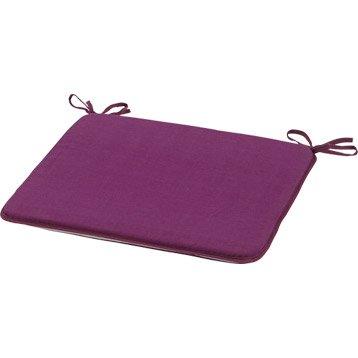 Coussin d'assise chaise ou de fauteuil JARDIN PRIVE Bistro, rayure violet tulipe