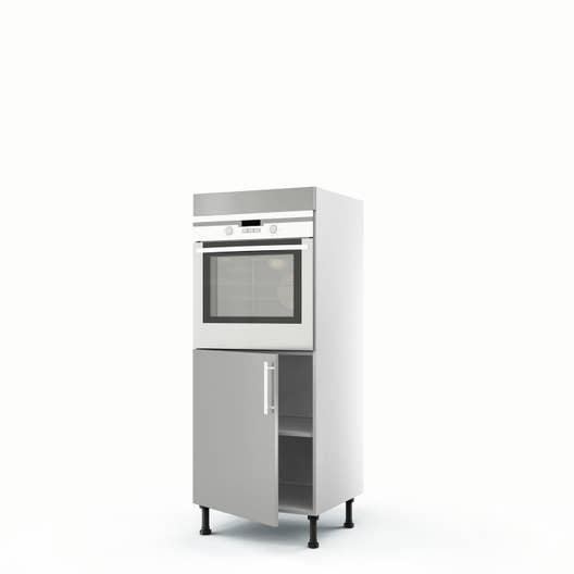 meuble de cuisine demi colonne gris four 1 porte d lice x x cm leroy merlin. Black Bedroom Furniture Sets. Home Design Ideas