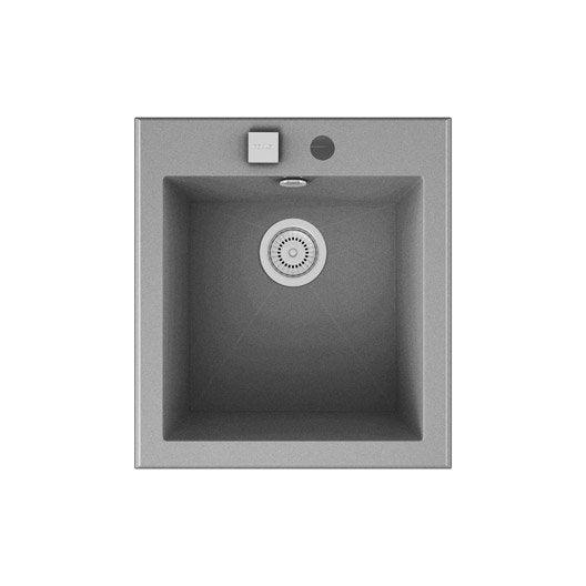Evier a encastrer quartz et resine gris metallise shira 1 for Voir ma maison en 3d 12 evier 224 encastrer quartz et resine blanc shira 1 cuve