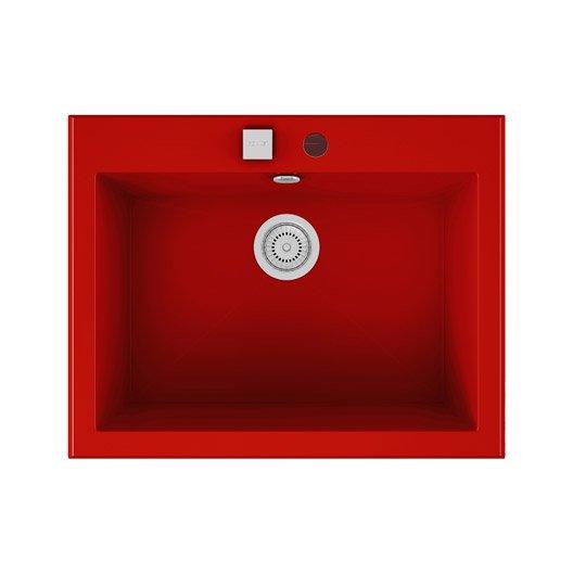 Evier Encastrer Quartz Et R Sine Rouge Shira 1 Cuve
