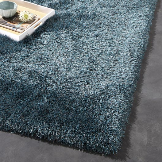tapis bleu shaggy polaris x cm leroy merlin. Black Bedroom Furniture Sets. Home Design Ideas