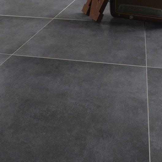 Carrelage sol et mur gris effet béton Factory l.75 x L.75 cm  Leroy ...