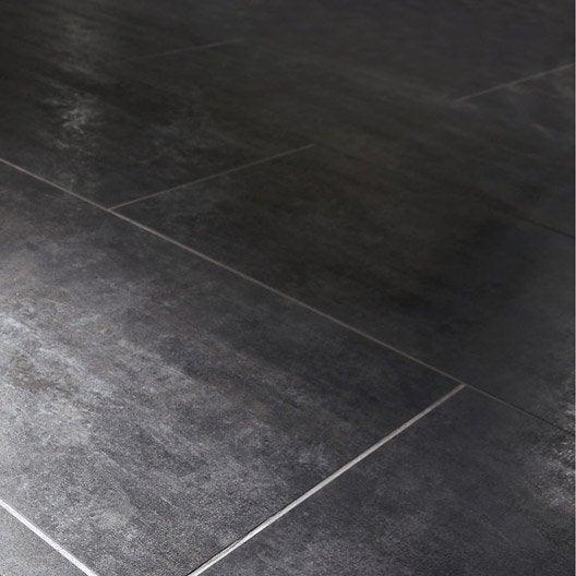 Carrelage sol et mur noir effet béton Factory l.60 x L.120 cm  Leroy ...
