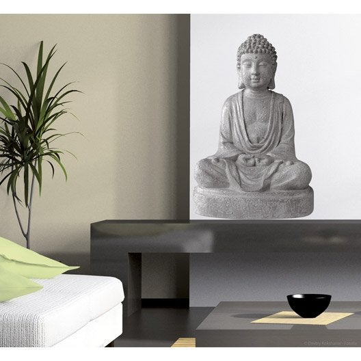 sticker bouddha 48 cm x 68 cm leroy merlin. Black Bedroom Furniture Sets. Home Design Ideas