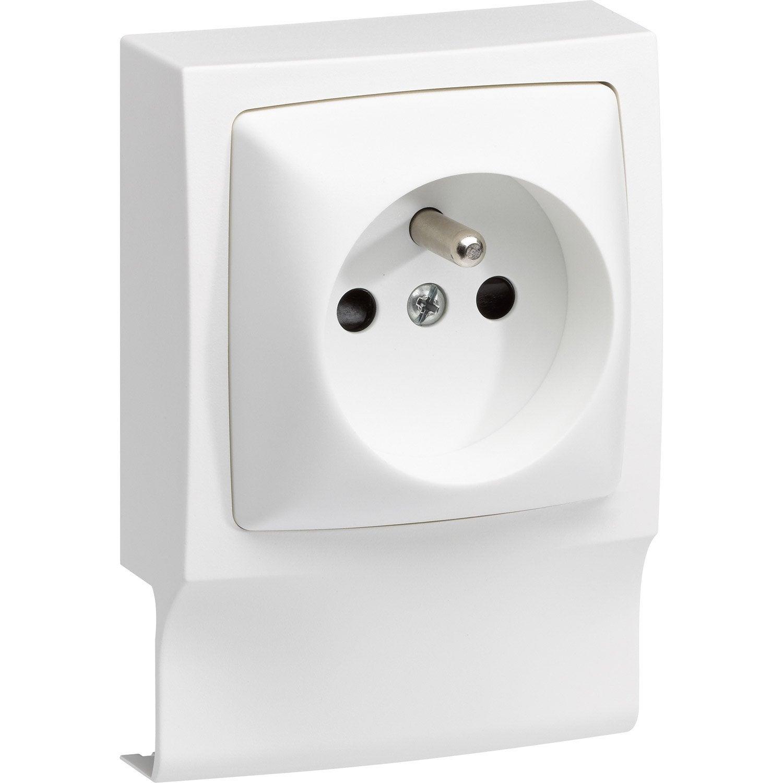 adaptateur blanc pour moulure h 9 4 x p 3 8 cm leroy merlin. Black Bedroom Furniture Sets. Home Design Ideas