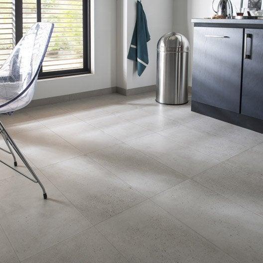 Carrelage sol et mur blanc effet b ton liverpool x l for Epaisseur mur interieur