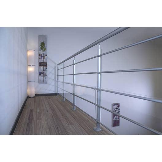 garde corps gris aluminium poli lisseo obapi leroy merlin. Black Bedroom Furniture Sets. Home Design Ideas
