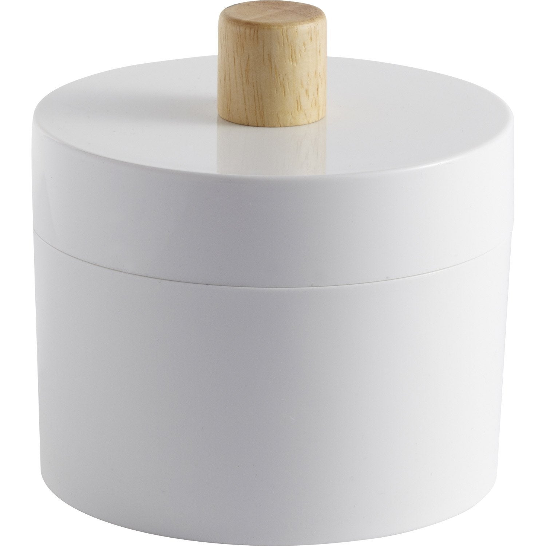 Boîte de rangement nomade en plastique blanc blanc 0, Scandi
