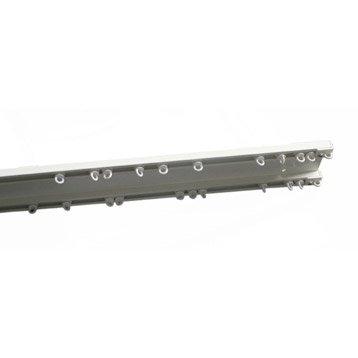 Rail et accessoires barre rideau tringle rail et c ble leroy merlin - Rail pour pergola coulissante ...