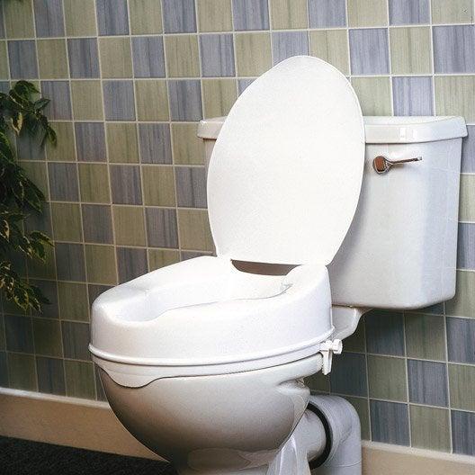 Rehausse WC avec couvercle à fixer, plastique