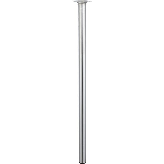Pied de table basse cylindrique fixe en acier chrom gris 70cmx30mm leroy - Pied de table basse leroy merlin ...