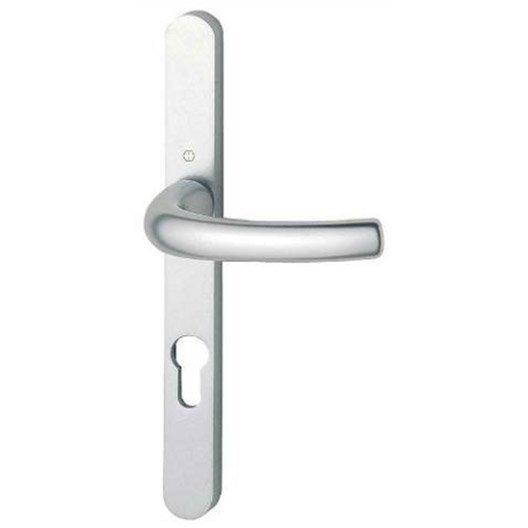 Poign es de porte col standard 23mm trou de cylindre en - Hauteur standard poignee de porte ...