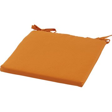 Coussin d'assise de chaise ou de fauteuil NATERIAL Laura, uni orange
