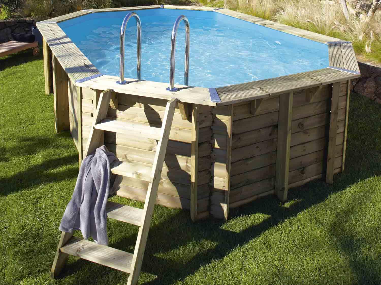 Piscine hors sol bois urbaine l 2 5 x l 6 x h m for Clarifiant piscine