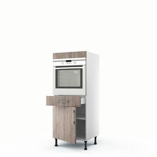 demi colonne d cor ch ne havane four 1 porte 1 tiroir. Black Bedroom Furniture Sets. Home Design Ideas