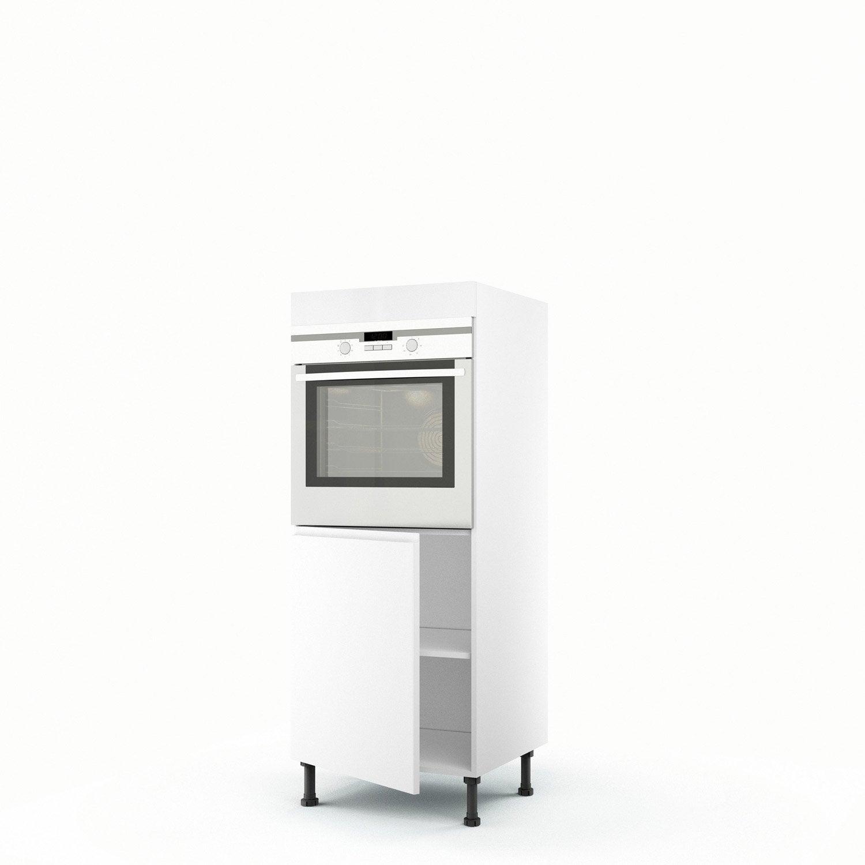 demi colonne blanc four 1 porte graphic x x cm leroy merlin. Black Bedroom Furniture Sets. Home Design Ideas