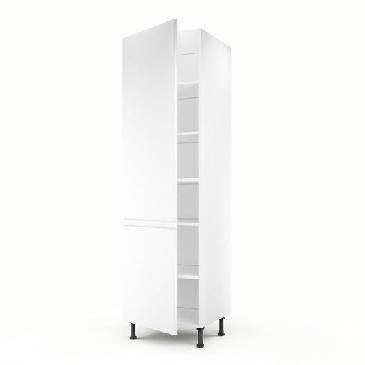 Meuble de cuisine colonne blanc 1 porte graphic x l - Meuble colonne cuisine 60 cm ...