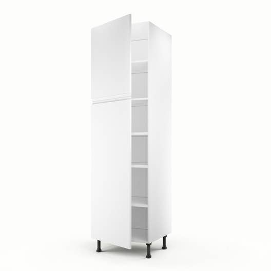 meuble de cuisine colonne blanc 2 portes graphic x x cm leroy merlin. Black Bedroom Furniture Sets. Home Design Ideas
