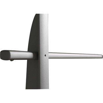 Lot de 5 lisses pour garde-corps TIERAL aluminium gris H.206 x l.2.5 cm