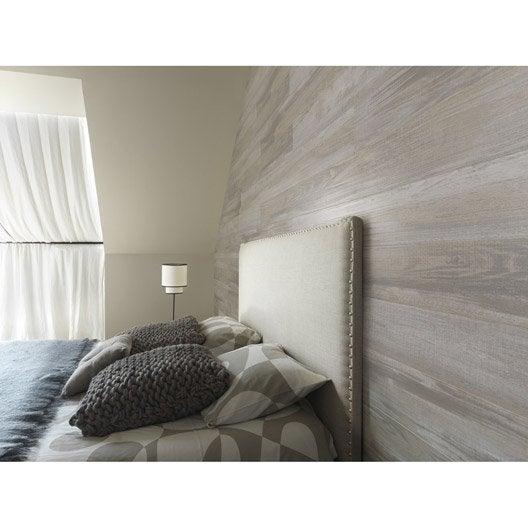 lambris pvc bois datcha gris grosfillex element wood x cm x ep 6 mm leroy merlin. Black Bedroom Furniture Sets. Home Design Ideas