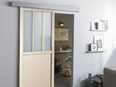 Poser une porte coulissante leroy merlin - Porte coulissante bois leroy merlin ...