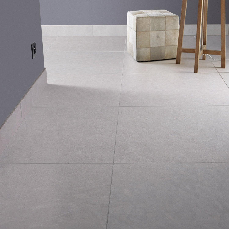 Carrelage sol et mur fer blanc reflex effet b ton studio l for Carrelage 60 x 60
