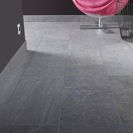 carrelage sol et mur gris effet pierre story x cm leroy merlin. Black Bedroom Furniture Sets. Home Design Ideas
