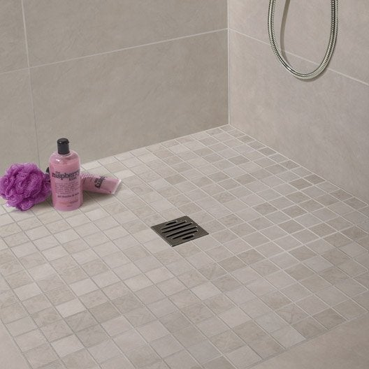 Diaporama vos r alisations de douche l 39 italienne for Carrelage gris mur prune