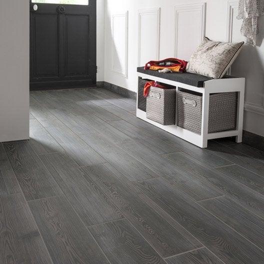 carrelage sol et mur anthracite effet bois aspen x. Black Bedroom Furniture Sets. Home Design Ideas