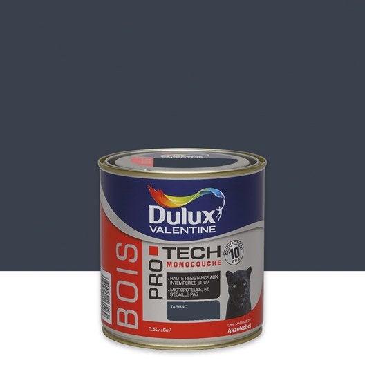 peinture bois ext rieur protech dulux valentine gris tarmac 0 5 l leroy merlin. Black Bedroom Furniture Sets. Home Design Ideas