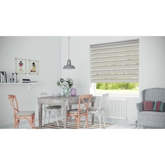 store enrouleur jour nuit coffre alu gris gris 4 57 60 x 250 cm leroy merlin. Black Bedroom Furniture Sets. Home Design Ideas