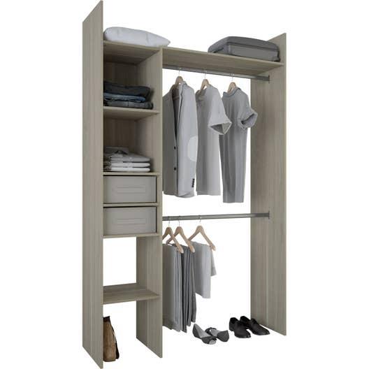kit dressing effet ch ne naturel compact x x cm x p leroy merlin. Black Bedroom Furniture Sets. Home Design Ideas