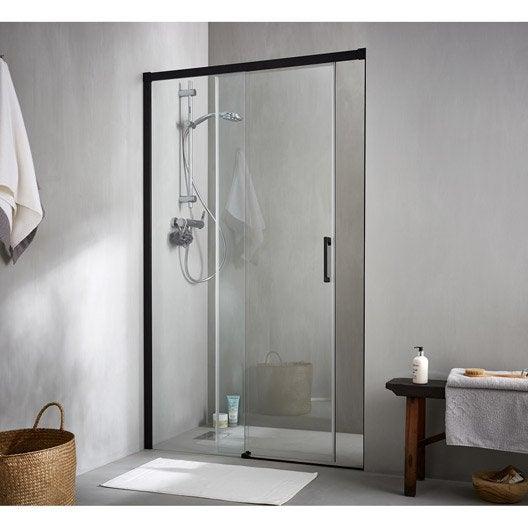 Porte de douche au meilleur prix leroy merlin - Porte coulissante pour douche ...