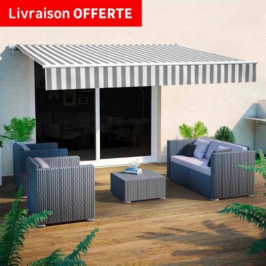 store banne store terrase au meilleur prix leroy merlin. Black Bedroom Furniture Sets. Home Design Ideas