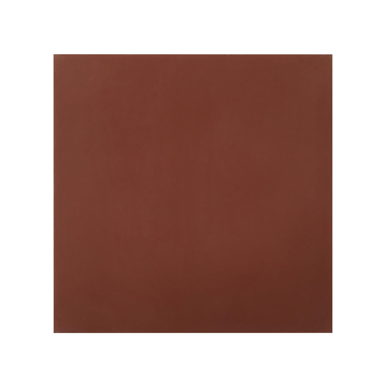 Carreau de ciment mur bordeaux mat l.20 x L.20 cm, Belle epoque