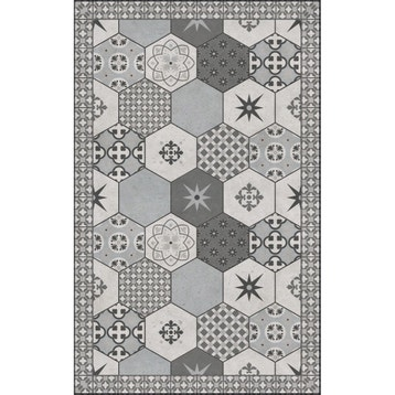 Tapis Vinyl Carreaux De Ciment Leroy Merlin