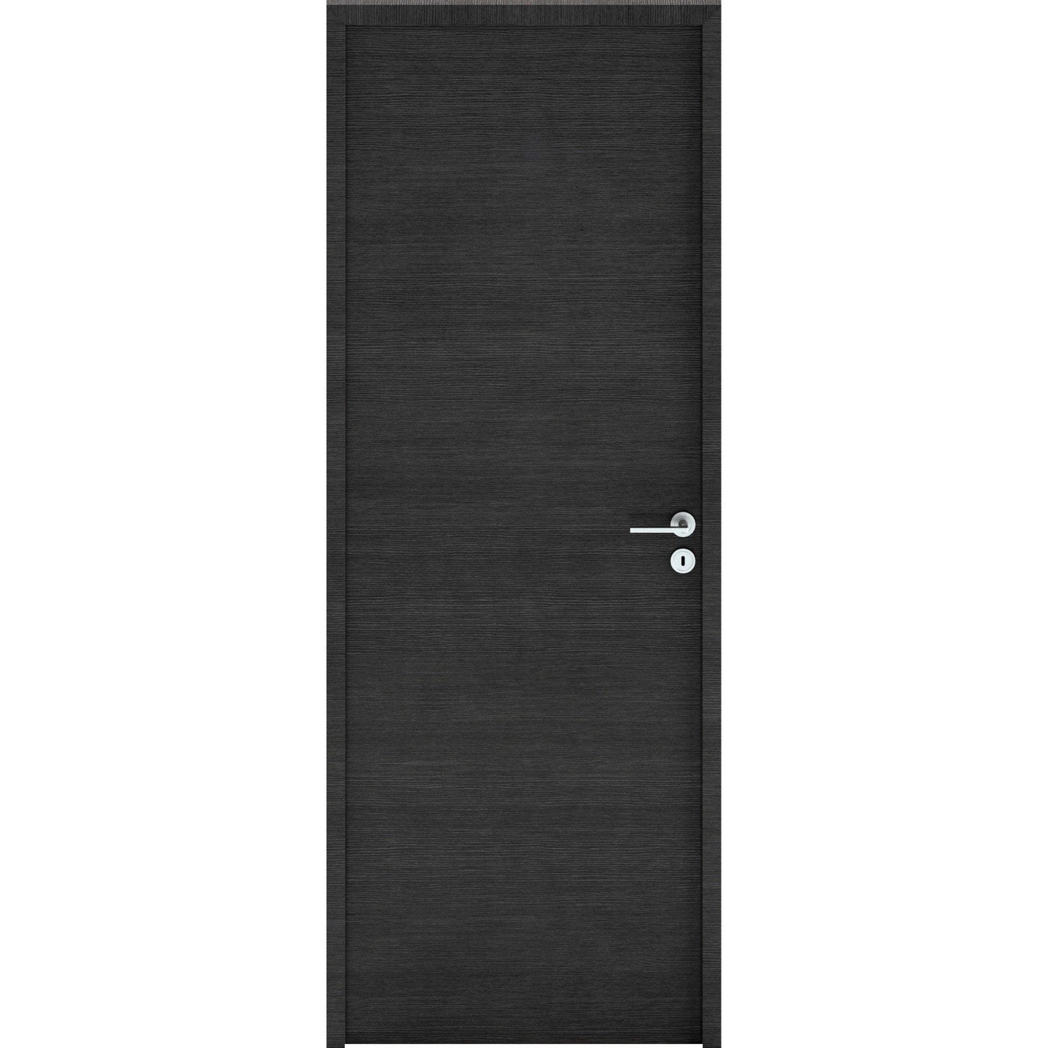 Bloc-porte bois revêtu London H.204 x l.73 cm, poussant gauche