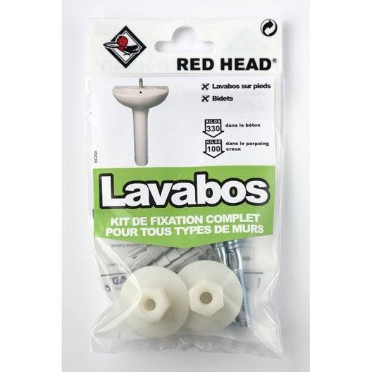kit chevilles expansion lavabo red head x mm leroy merlin. Black Bedroom Furniture Sets. Home Design Ideas
