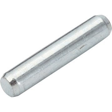 Lot de 20 taquets à enfoncer, acier gris, Diam.5 mm