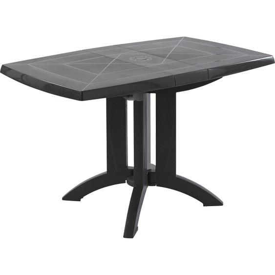 Table de jardin de repas GROSFILLEX Véga rectangulaire anthracite, 4  personnes