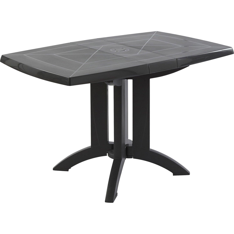 Table de jardin de repas GROSFILLEX Véga rectangulaire anthracite, 4 ...