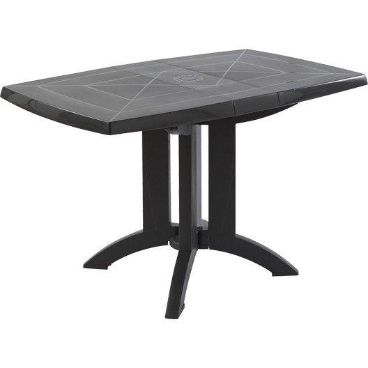 Table de jardin aluminium bois r sine au meilleur prix leroy merlin - Salon de jardin grosfillex vega blanc ...